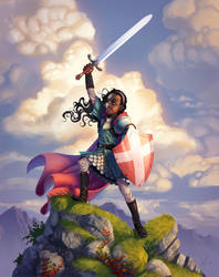 Qavah the Brave by WesTalbott