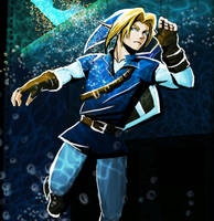 Link - Water Temple by BrendaFailache