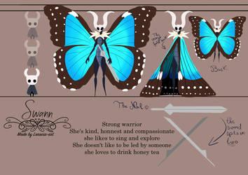 My OC Swann the Morpho blue by Loracia-art