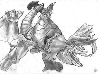 Monster Hunter - Diaburosu, Diablos by 6dragon6