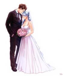 Beruche and Roy wedding by OllyYuu by Gwarriorfanfic