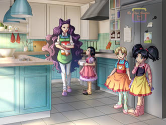 Cooan cooking with the children by ElynGontier by Gwarriorfanfic
