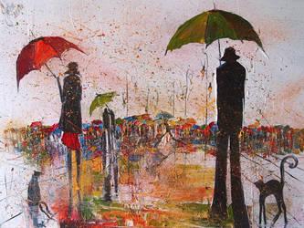 Warm summer rain by StudioUndertheMoon