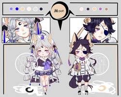 Moon Twins Adopt Auction(closed) by Nekoichu