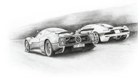 Pagani vs Koenigsegg by STH-pl