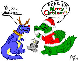 'Merry Christmas' by Draco-Saurian