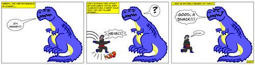 When a Ninja Arrive by Draco-Saurian