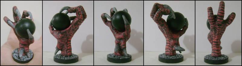 Black Orb on Dragon's Hand by Draco-Saurian