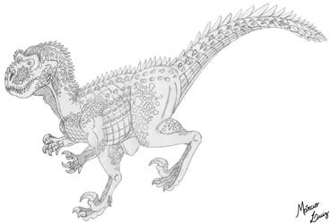 Letalivenator impavidus by Draco-Saurian