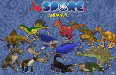 PrehiSPOREc Animals by Draco-Saurian