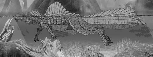Spinosuchosaurus insularis by Draco-Saurian