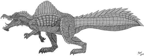 Keep Walking, Spinosuchosaurus by Draco-Saurian