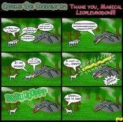 Thannnks Magical Liopleurodon by Draco-Saurian
