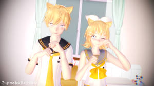 Neko Twins [Pose DL] by CupcakeRiyoko