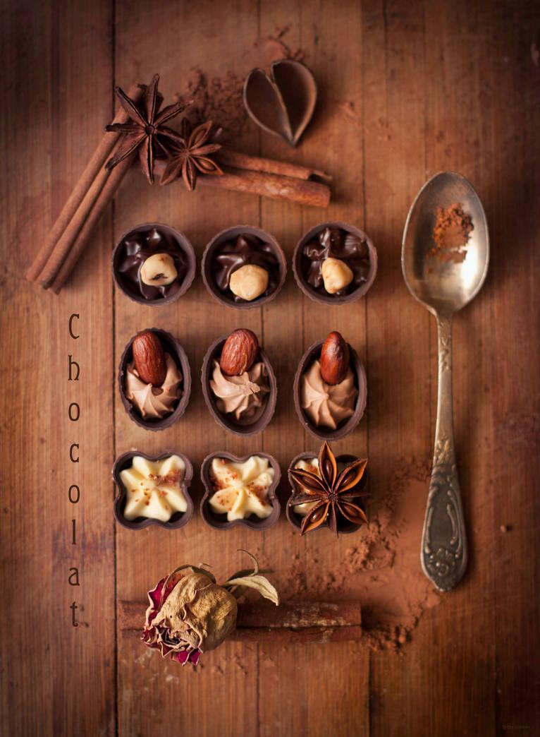 Le chocolat by ElinasArt