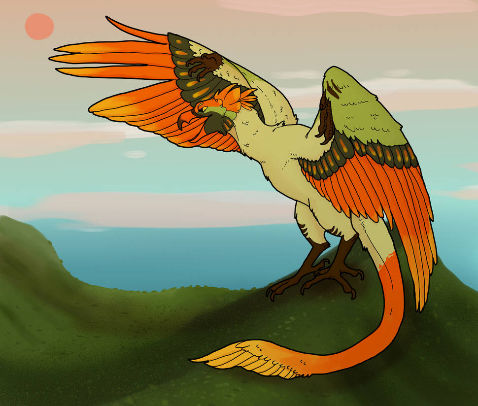 (C) Rufous Crested Wyvern by Bird-Blood