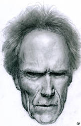 Clint Eastwood portrait by GuillermoRamirez