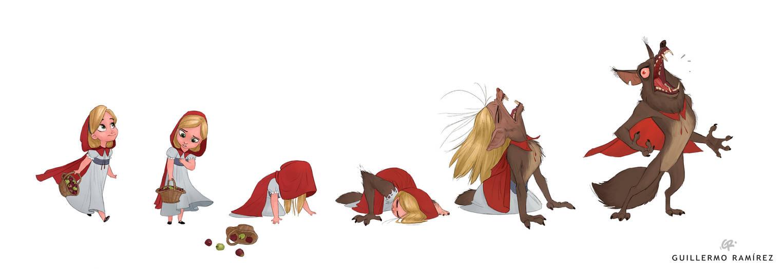Red Riding Hood - werewolf by GuillermoRamirez
