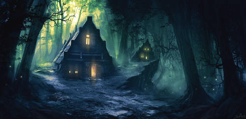 Lunar Dew Forest by ShahabAlizadeh