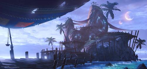 Moonlight Island by ShahabAlizadeh