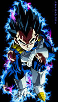 Vegeta Ultra Instinto by LeonardoFrost