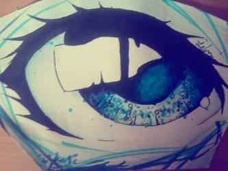 blue eye by Art-Is-My-Waifu