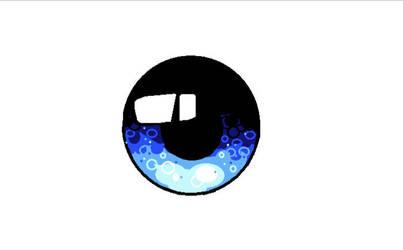 Blue eye len 2 - MS Paint by Art-Is-My-Waifu