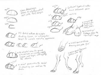 How to Draw Paws by Kaashtian