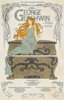 George Gershwin- Art Nouveau by tsau-mia