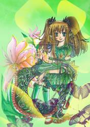 Greenish Girl by pearsmallsky
