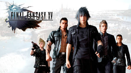 FFXV wallpaper whit new prompto and cor by REALzeles