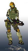 Infinity - Druze Female Mercenary by BlitzJaeger