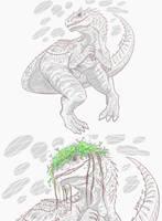 JW : Pretty Indominus rex by Vipery-07art