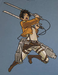 eymage airbrush shirt 2013o- eren jeager by eymage-anime