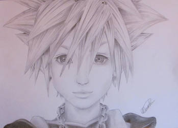 Sora - Kingdom Hearts by monathomsen