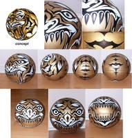 Tiger tattoo  B-ball by skyknightnd
