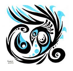 Inktober #24 - Tears of the Phoenix by OnTheMountainTop
