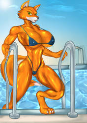 Foxy out of the Pool-Bikini by DieHard300