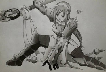 Erza, Lightning Empress Armour! by Conzibar