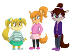 ordered custom designs of chipettes by FallenChipmunk