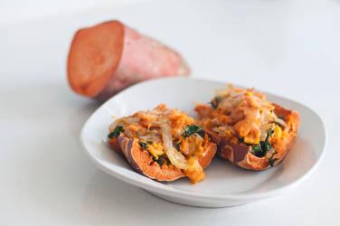 Twice Baked Sweet Potatoes by MichelleRamey