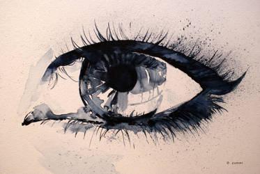 Eye in watercolours by zummi