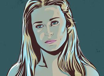 Westworld Inspired fan art of Dolores by zummi