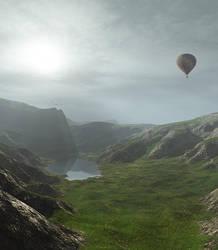 Flying through Inverness by sanosoke