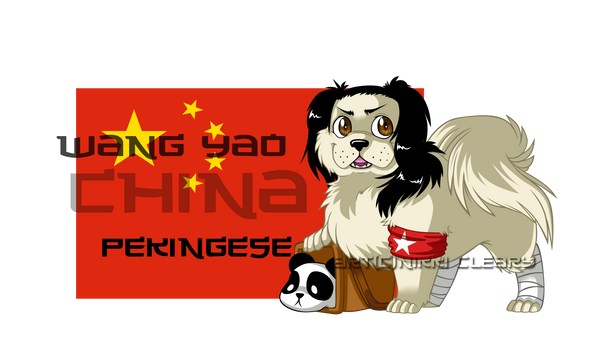 Hetalia Dogs: China by snickerdoots