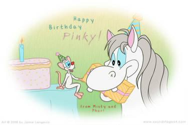 Happy Birthday Pinky by toonishdreams