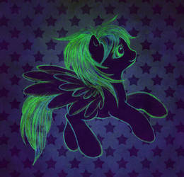 My Little Glow Pony by toonishdreams