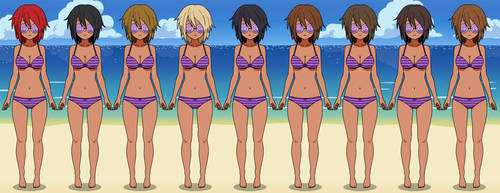 Highschool Girls (swimsuits) by Dannycup123