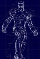 Ironman Suit Blueprint by r3p1icat0r
