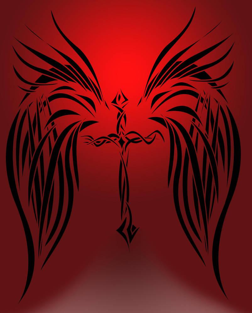 Tribal Cross And Wings By Kakashijess On Deviantart